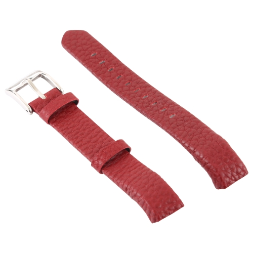 Smart Watch Shiny Leather Watchband for Fitbit Alta(Red) фото