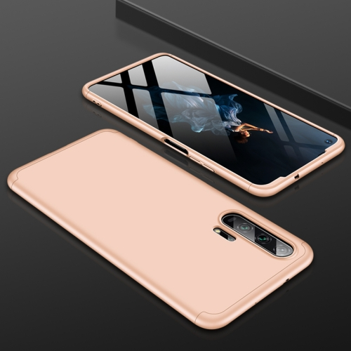 GKK Three Stage Splicing Full Coverage PC Case For Huawei Honor 20 Pro(Gold)