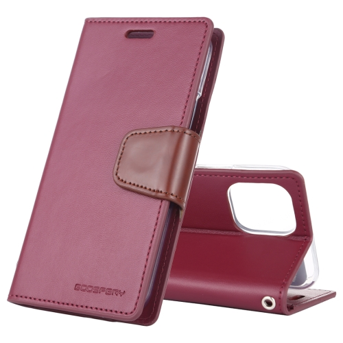 For iPhone 11 Pro MERCURY GOOSPERY SONATA DIARY Horizontal Flip Leather Case with Holder & Card Slots & Wallet(Wine)