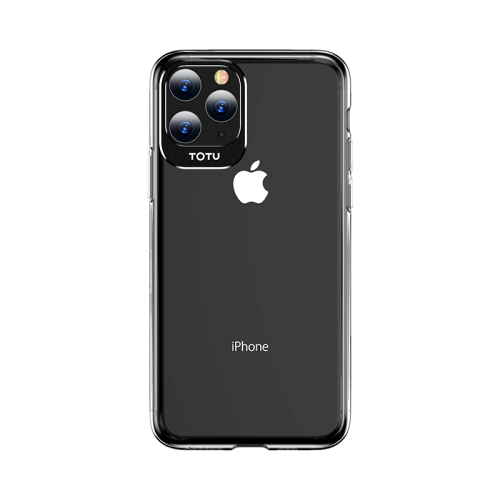 For iPhone 11 Pro Max TOTUDESIGN Clear Crystal Series Metal + PC Protective Case(Black)