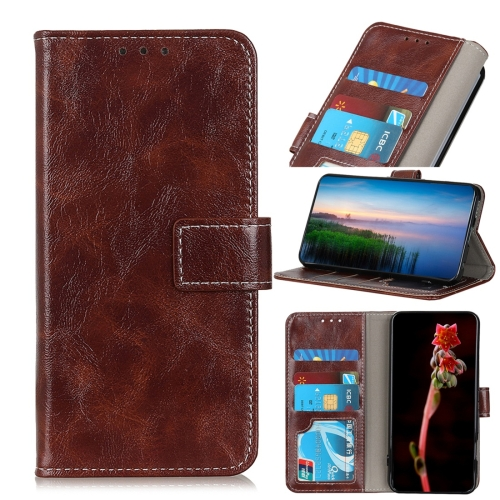 For Xiaomi Redmi Note 8 Retro Crazy Horse Texture Horizontal Flip Leather Case with Holder & Card Slots & Wallet & Photo Frame(Brown)