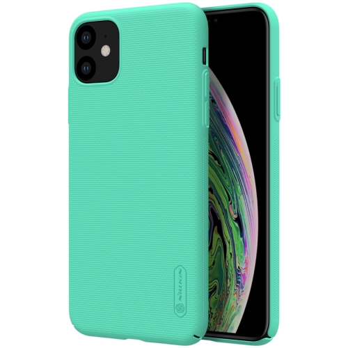 For iPhone 11 NILLKIN Frosted Shield Concave-convex Texture PC Protective Case(Mint Green)