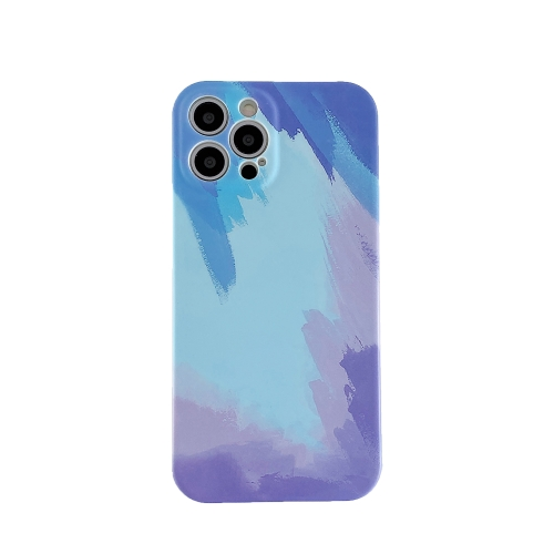 Liquid Silicone Gradient Color Protective Case For iPhone 11 Pro(Blue)  - buy with discount