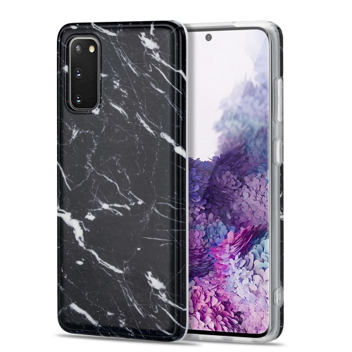 For Samsung Galaxy S20 TPU Glossy Marble Pattern IMD Protective Case(Black)  - buy with discount