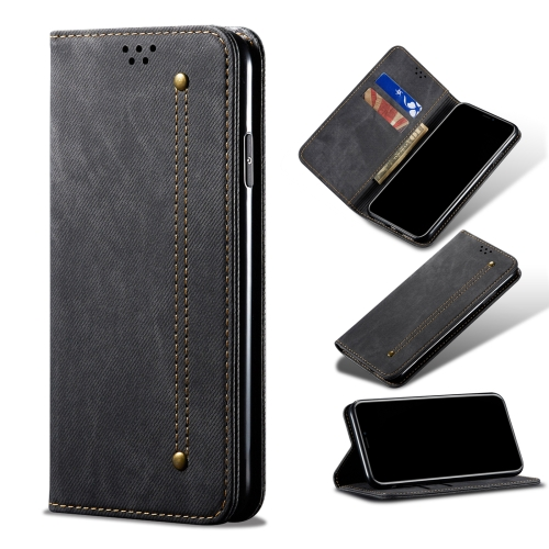 Samsung Galaxy A12 Case Black Flip Folding Stand Splicing Design Leather Cover Card Holder Wallet Phone Case Shockproof TPU Bumper Magnetic Protective Cover for Samsung Galaxy A12 Phone Cases