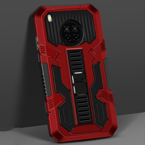 For Huawei Y9a Vanguard Warrior All Inclusive Double-color Shockproof TPU + PC Protective Case with Holder(Red)  - buy with discount