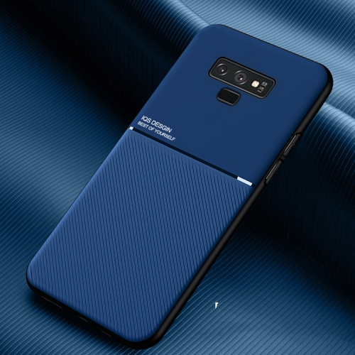 For Samsung Galaxy Note9 Classic Tilt Strip Grain Magnetic Shockproof PC + TPU Case(Blue)  - buy with discount