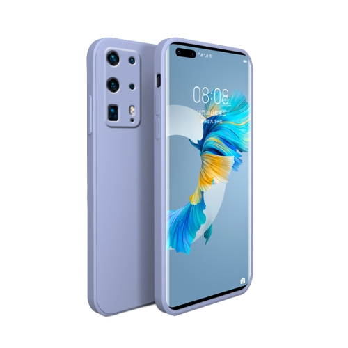 For Huawei P40 Pro Plus Liquid Silicone Full Coverage Shockproof Magsafe Case(Lavender Grey)