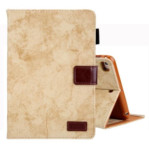 For iPad Mini 1 / 2 / 3 / 4 Business Style Horizontal Flip Leather Case, with Holder & Card Slot & Photo Frame & Sleep / Wake-up Function(Yellow)