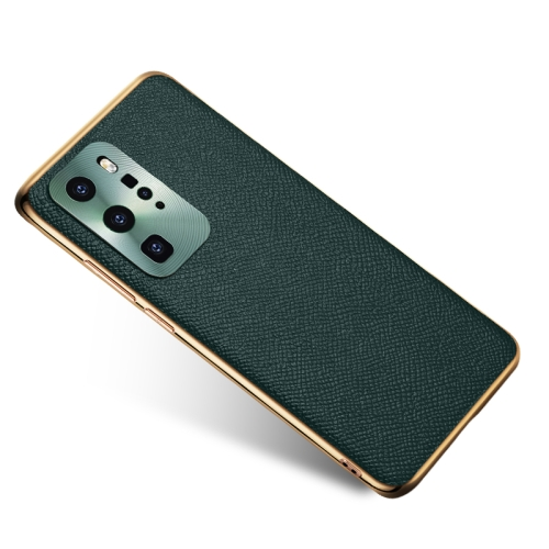 Cowhide Palmprint Shockproof Precise Hole Protective Case For Huawei P40 Pro(Green)