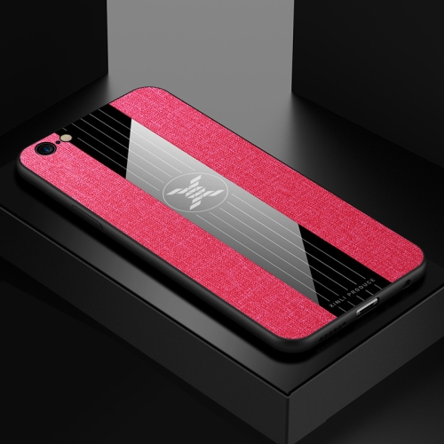For iPhone 6 & 6s XINLI Stitching Cloth Texture Shockproof TPU Protective Case(Red)