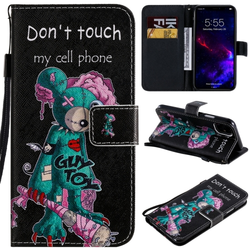 For iPhone 11 Painted Pattern Horizontal Flip Leather Case, with Wallet & Holder & Card Slots & Lanyard(One-eyed Mouse)