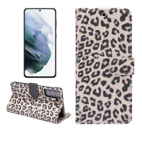 For Samsung Galaxy S21 5G Leopard Pattern Horizontal Flip Leather Case with Holder & Card Slots(Brown)  - buy with discount