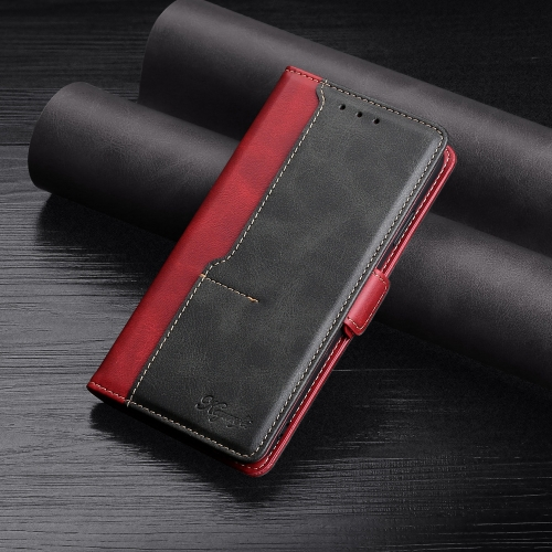 For Xiaomi Mi 11 Retro Texture Contrast Color Side Buckle Horizontal Flip Leather Case with Holder & Card Slots & Wallet(Red)  - buy with discount