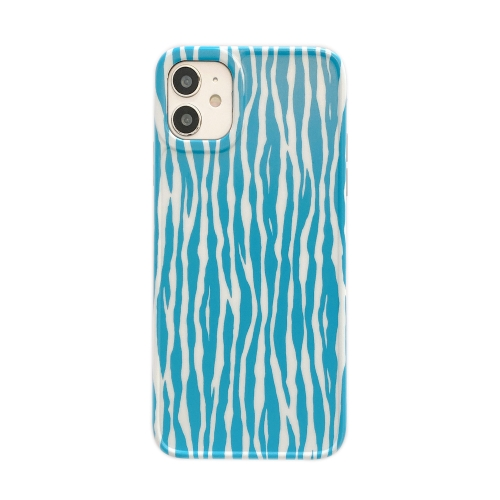 Leopard Series IMD Shockproof Protective Case For iPhone 11(Sky Blue)  - buy with discount