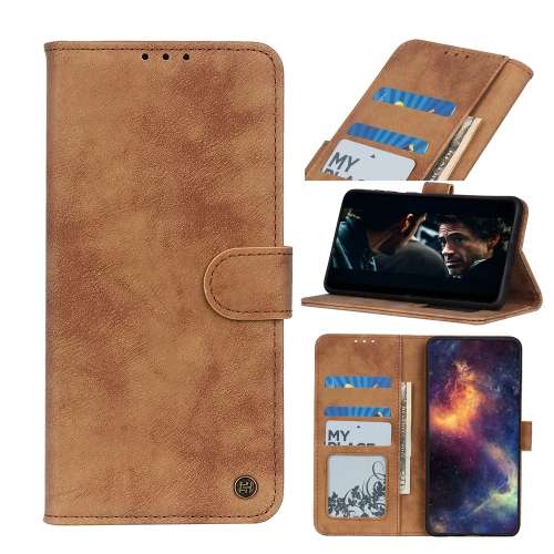 For Samsung Galaxy A02 Antelope Texture Magnetic Buckle Horizontal Flip PU Leather Case with Card Slots & Wallet & Holder(Brown)  - buy with discount