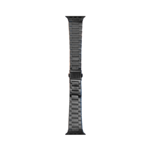WIWU Three Beads Ultra-thin Stainless Steel Replacement Watchbands For Apple Watch Series 6 & SE & 5 & 4 44mm / 3 & 2 & 1 42mm, Color:Dark Gray  - buy with discount
