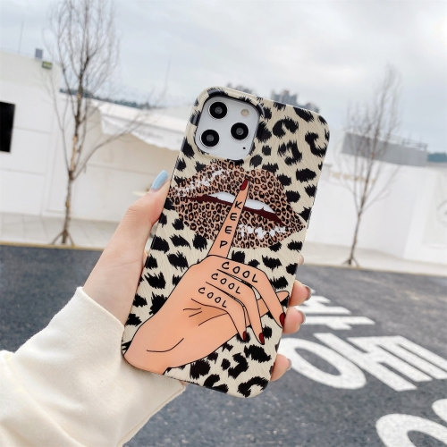 IMD Half-coverage TPU Protective Case For iPhone 11 Pro Max(Leopard Kiss)  - buy with discount