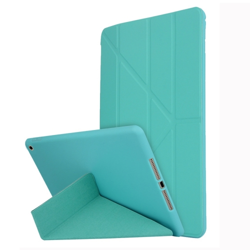 For iPad 10.2 inch TPU Horizontal Deformation Flip Leather Case with Holder(Green) фото