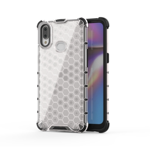 For Galaxy A10s Shockproof Honeycomb PC + TPU Case(White)