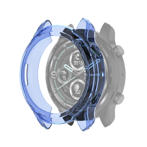 For TicWatch Pro 3 / Pro 3 Lite Half Coverage Hollowed TPU Protective Case(Transparent Blue)  - buy with discount