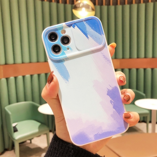 Gradient Color Sliding Lens Cover Design Shockproof Protective Case For iPhone 11(Snow Blue)  - buy with discount