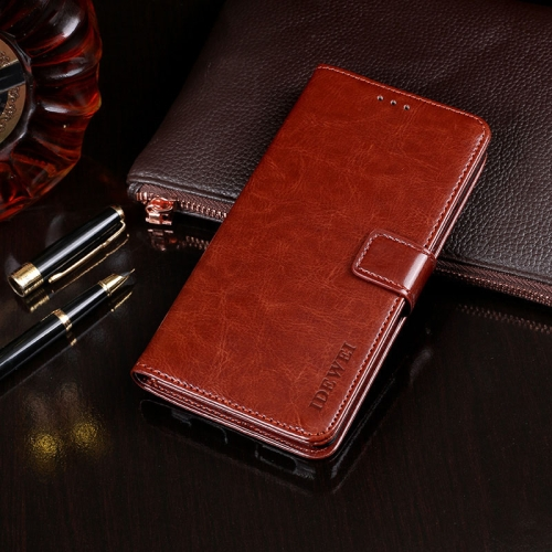 For Blackview A80 Plus idewei Crazy Horse Texture Horizontal Flip Leather Case with Holder & Card Slots & Wallet(Brown)  - buy with discount