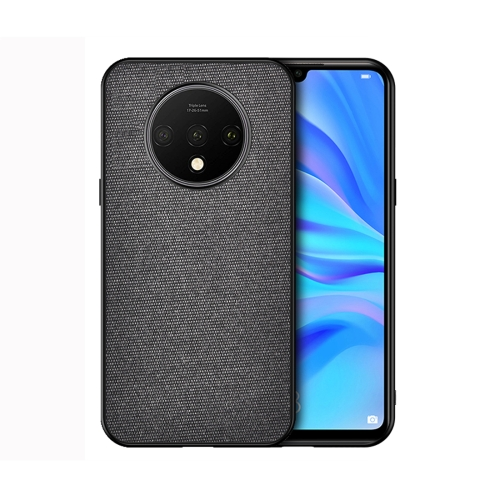 For OnePlus 7T - Shockproof Cloth Texture PC+ TPU Protective Case(Black)