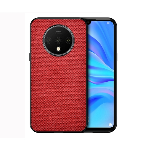 For OnePlus 7T - Shockproof Cloth Texture PC+ TPU Protective Case(Red)