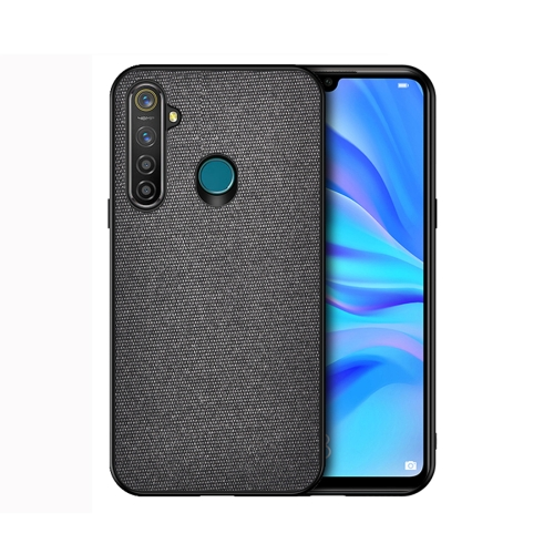 For Realme 5 Pro - Shockproof Cloth Texture PC+ TPU Protective Case(Black)