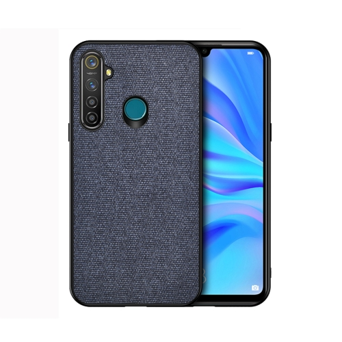 For Realme 5 Pro - Shockproof Cloth Texture PC+ TPU Protective Case(Blue)