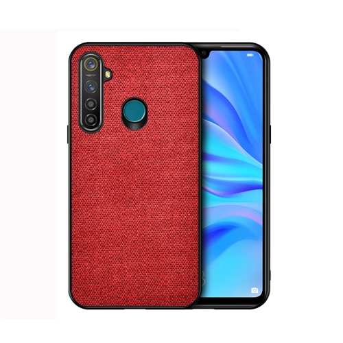 For Realme 5 Pro - Shockproof Cloth Texture PC+ TPU Protective Case(Red)