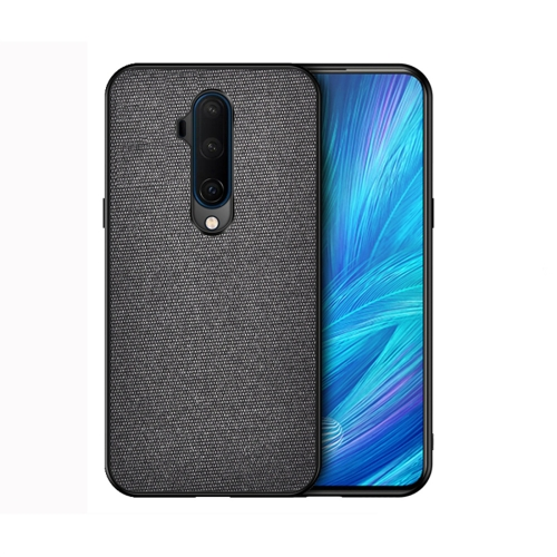 For OnePlus 7T Pro - Shockproof Cloth Texture PC+ TPU Protective Case(Black)