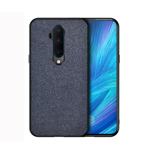 For OnePlus 7T Pro - Shockproof Cloth Texture PC+ TPU Protective Case(Blue)