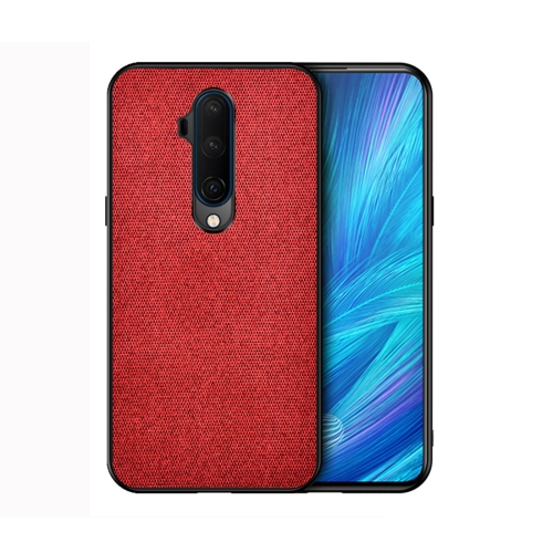For OnePlus 7T Pro - Shockproof Cloth Texture PC+ TPU Protective Case(Red)