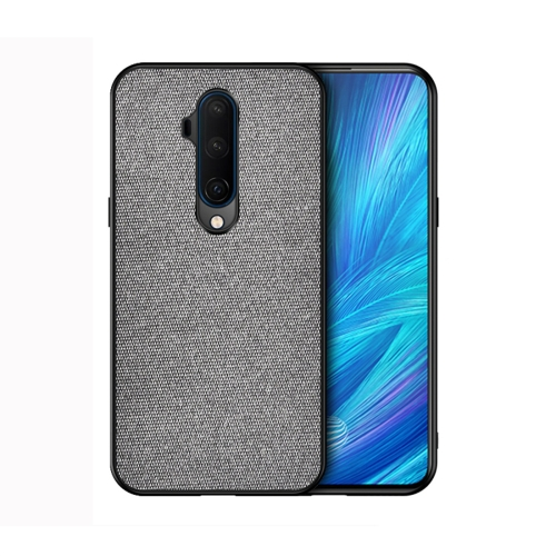 For OnePlus 7T Pro - Shockproof Cloth Texture PC+ TPU Protective Case(Grey)