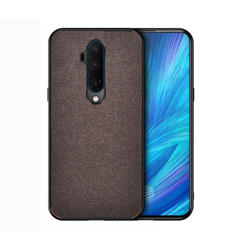 For OnePlus 7T Pro - Shockproof Cloth Texture PC+ TPU Protective Case(Brown)