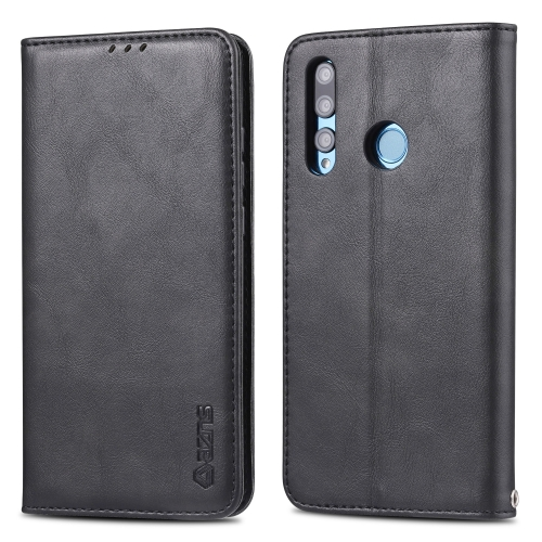 For Huawei P Smart Plus 2019 AZNS Retro Texture Magnetic Horizontal Flip PU Leather Case with Holder & Card Slots & Photo Frame(Black) фото