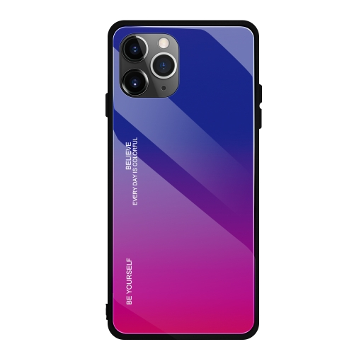 SUNSKY , For iPhone 11 Pro Max Gradient Color Glass Case