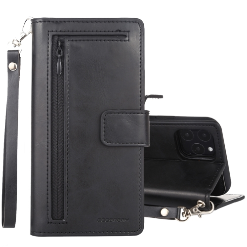 For iPhone 11 Pro GOOSPERY DETACHABLE DIARY Detachable Horizontal Flip Leather Case with Holder & Card Slots & Zipper & Wallet(Black)