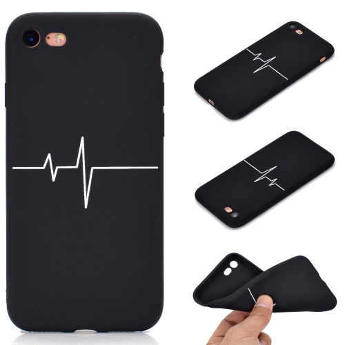 For iPhone 8 & 7 Shockproof Stick Figure Pattern Soft TPU Protective Case(Heart Rate)