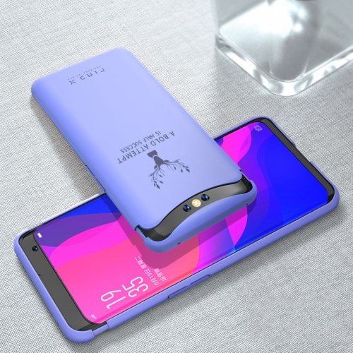 For OPPO Find X Elk Pattern Ultra-thin TPU Soft Case with Magnetic Liftable Cap(Lavender Purple)