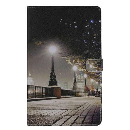 For Galaxy Tab A 10.1 (2019) 3D Colored Drawing Horizontal Flip Leather Case with Holder & Card Slots & Wallet(Cityscape)