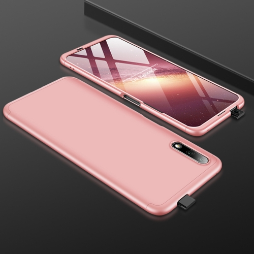For Huawei Honor 9X GKK Three Stage Splicing Full Coverage PC Protective Case(Rose Gold)