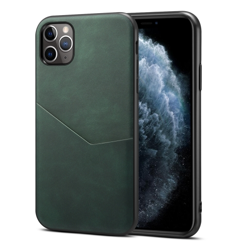 Skin Feel PU + TPU Protective Case with Card Slot For iPhone 11 Pro Max(Green)  - buy with discount