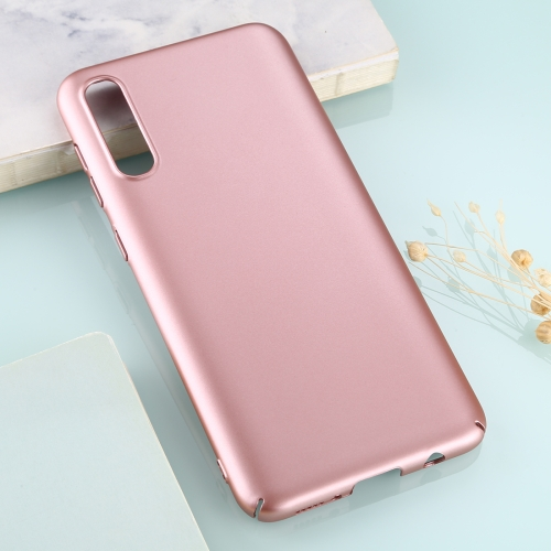 For Galaxy A50 Solid Color Plastic Protective Case(Rose Gold)