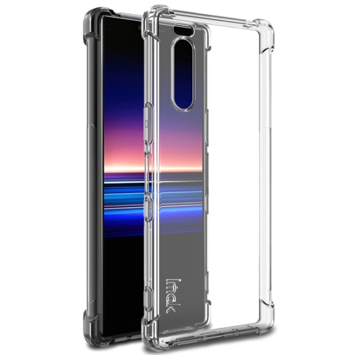 For Sony Xperia 5 IMAK All-inclusive Shockproof Airbag TPU Case, with Screen Protector(Transparent)