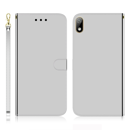 For Huawei Y5 (2019) / Honor 8s Imitated Mirror Surface Horizontal Flip Leather Case with Holder & Card Slots & Wallet & Lanyard(Silver) фото