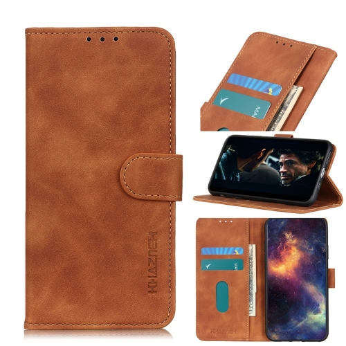 For Motorola Moto G8 Plus Retro Texture PU + TPU Horizontal Flip Leather Case with Holder & Card Slots & Wallet(Brown)