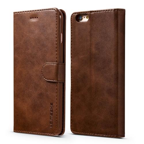 For iPhone 6 / 6s LC.IMEEKE Calf Texture Horizontal Flip Leather Case, with Holder & Card Slots & Wallet(Brown)